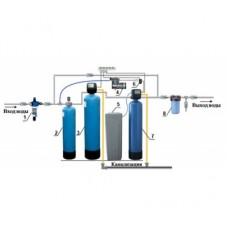 Cтанция умягчения воды, обезжелезивания и аэрации 1,5 куб.м/ч